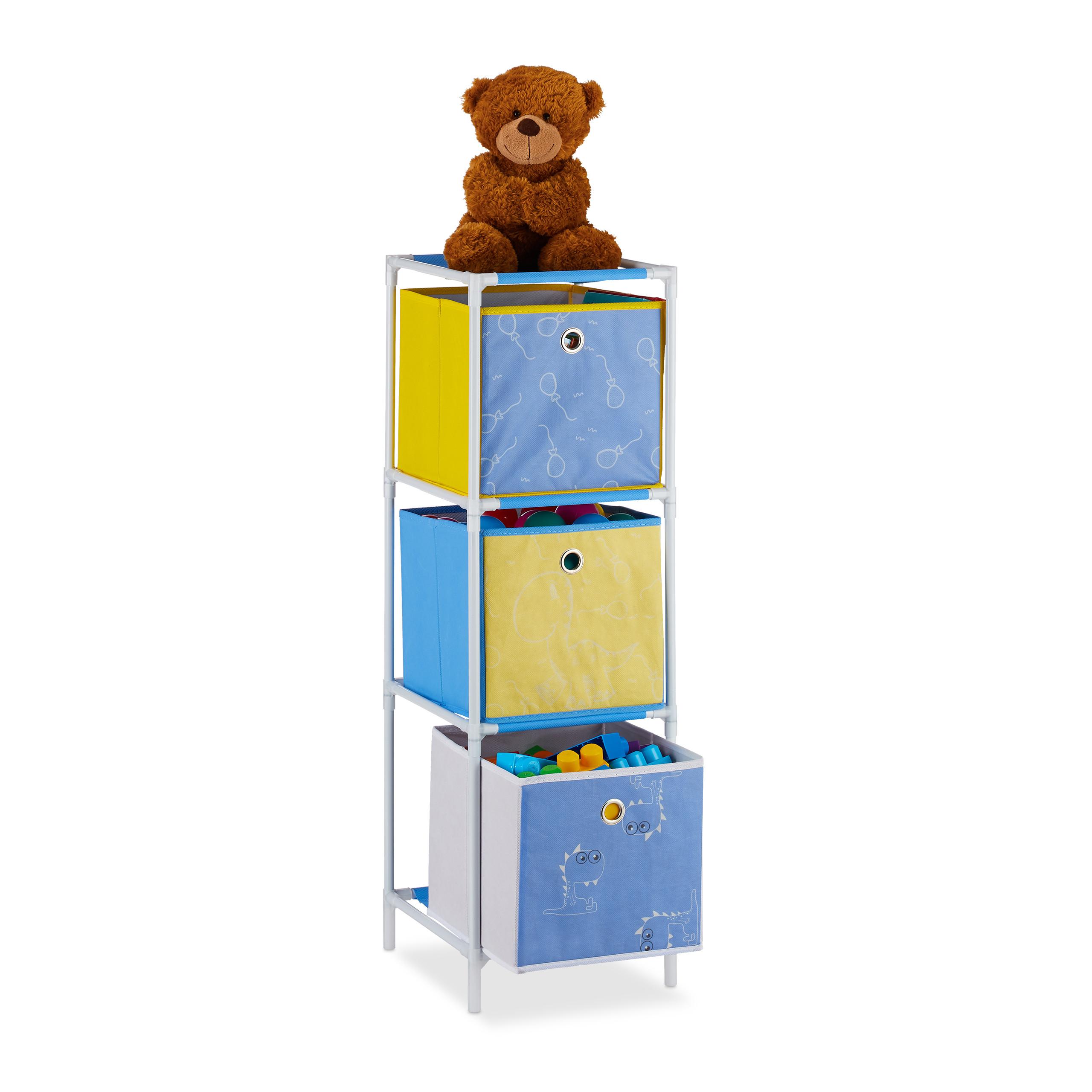 Spielzeugregal Kinderregal mit Boxen Spielregal Regal Kinderzimmer Standregal