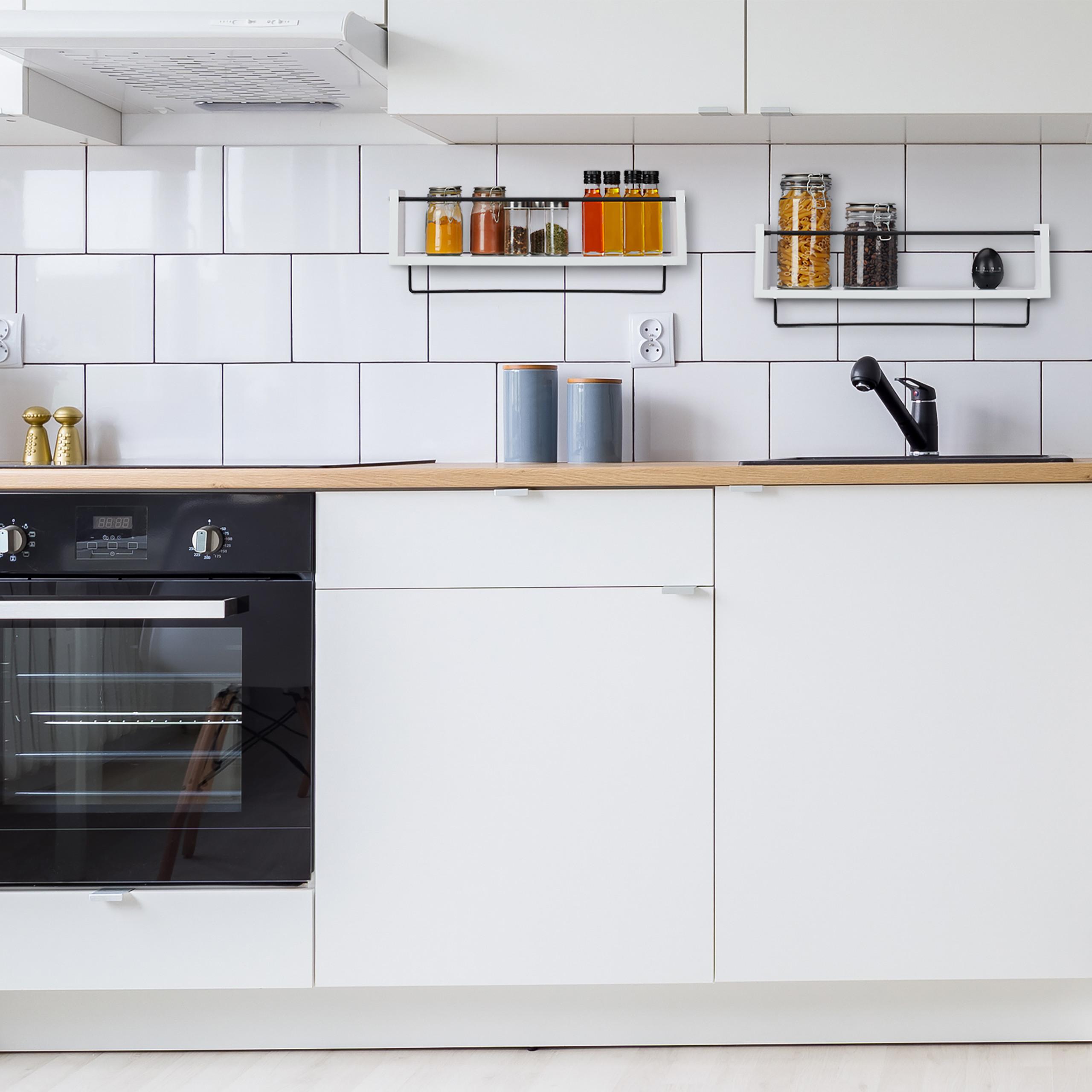 Wandregal Küche im 18er Set Weiß Hängeregal Küchenregal Wandboard