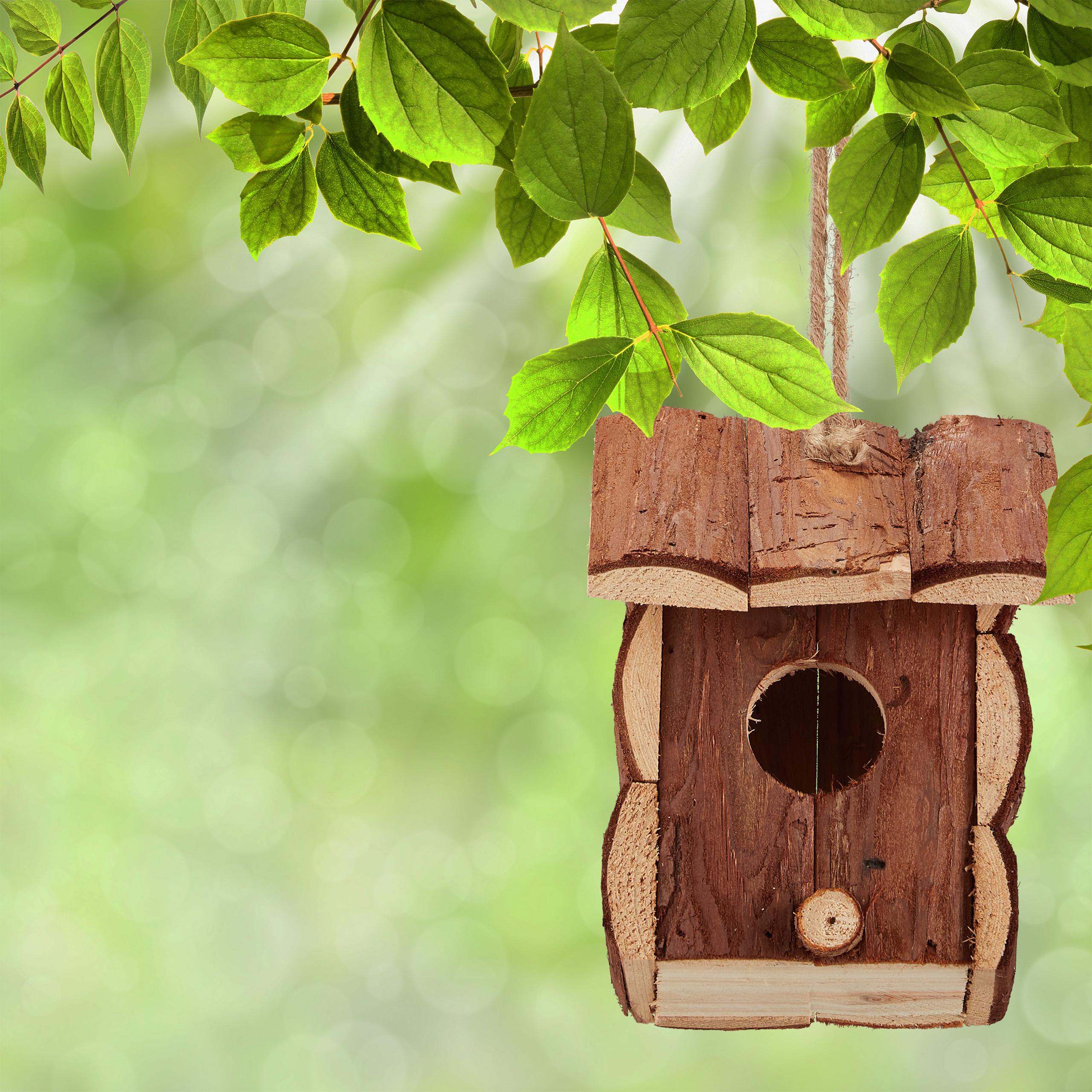 Miniatur Vogelhäuschen Holzhäuschen Mini Vogelhaus zum Hängen Deko Nistkasten